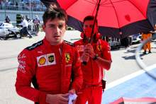 Charles Leclerc (MON) Ferrari on the grid.