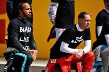 Hamilton praises F1's 'much better job' with anti-racism message