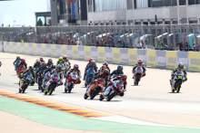 Moto3 race start, Aragon MotoGP, 16 October 2020