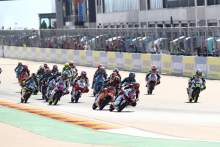 Moto3 race start, Aragon MotoGP, 16 October 2020