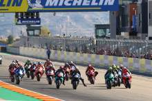 Start, MotoGP race, Aragon MotoGP. 18 October 2020