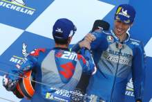 Alex Rins, , Joan Mir, MotoGP race, Aragon MotoGP. 18 October 2020