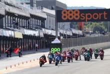 Pol Espargaro leads, Maverick Vinales starts from pit lane, MotoGP race, European MotoGP. 8 November 2020