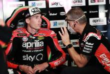 'Interesting improvements' - Espargaro, Savadori get first Aprilia laps of 2021