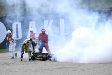 Bagnaia down and out again but leaves mark at Mugello