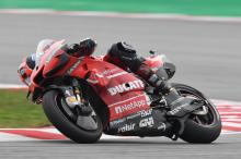 Petrucci's bike 'jumping… impossible at the end'