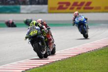 Rossi 'enjoys' podium battle, first fastest lap since 2016