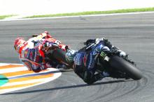 Marquez recovers from fall to lead Valencia MotoGP warm-up