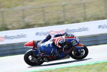 Moto2 Brno: Early lap lifts Roberts back to pole