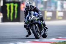 Vinales escapes injury in Brno fall, Rossi in 'difficult situation'