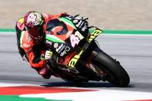Espargaro teases Aprilia pace with top ten on 16-lap old tyre