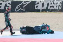 Fabio Quartararo after crash, MotoGP race, San Marino MotoGP, 13 September 2020