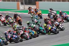 Moto2 race start, Calatunya MotoGP, 27 September 2020