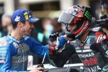 Joan Mir Fabio Quartararo , Catalunya MotoGP. 27 September 2020