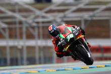 Bradley Smith powers to top French MotoGP FP1 time at damp Le Mans