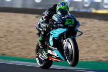 Franco Morbidelli heads Yamaha 1-2 in chilly French MotoGP warm-up