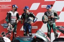 Fabio Quartararo Maverick Vinales Franco Morbidelli , San Marino MotoGP. 12 September 2020