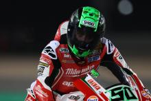 Laverty gets 'tyred' at final turn