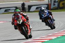 Chaz Davies and Toprak Razgatlioglu, Catalunya WorldSBK race1, 2020