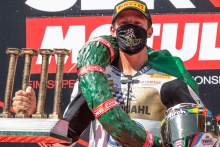 Andrea Locatelli celebrates his World Championship, Catalunya WorldSBK 2020