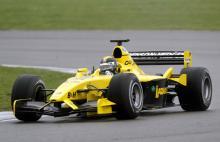 Derek Daly back in Formula One car.
