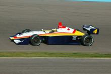 Medeiros leads IPS open test at Indy.