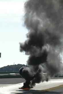 Pictures: KR V5 on fire.