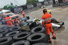 Houston race 1 sends drivers spinning in the rain