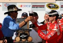 Petty enjoys wine in victory lane