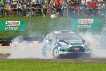 Petter Solberg thrills at Rallyday 2012