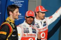 Qualifying Results: 1st place Lewis Hamilton (GBR), McLaren Mercedes, 2nd place Jenson Button (GBR),