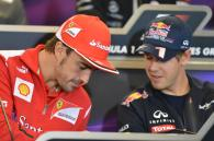 15.11.2012 - Press Conference: Fernando Alonso (ESP) Scuderia Ferrari F2012 and Sebastian Vettel (GE