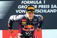 07.07.2013- Race, Sebastian Vettel (GER) Red Bull Racing RB9 race winner