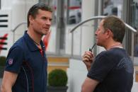 13.05.2006 Granollers, Spain, . David Coulthard (GBR), Red Bull Racing & Martin Brundle (GBR) - For