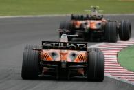 Adrian Sutil (GER) Etihad Aldar Spyker Formula One Team F8-V11, France F1, Magny Cours, 29th June-1s
