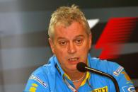 Pat Symonds (Renault) at Friday`s press conference in Brazil