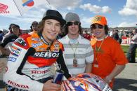 Nicky, Tommy and Roger-Lee Hayden, Valencia MotoGP Race, 2004
