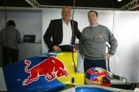 Dietrich Mateschitz, owner of Red Bull and Tony Purnell, Red Bull Racing, team boss