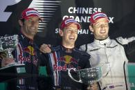 Mark Webber (AUS) Red Bull RB5, Sebastian Vettel (GER) Red Bull RB5, Jenson Button (GBR) Brawn BGP00