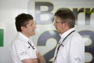 Nick Fry (GBR) Sporting Director BrawnGP, Ross Brawn (GBR) Team Principal, Brawn GP, Spanish F1 Gran