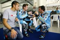Aoki, Bautista, Capirossi, Sepang MotoGP tests, 4th-5th February, 2009.