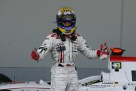 Nico Rosberg celebrates a battling third at the Nurburgring