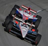 3-4 September, 2010, Sparta, Kentucky USA #3 Team Penske's Helio Castroneves followed by Vitor Meri