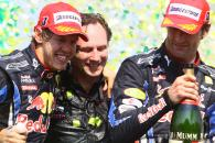 Race, Sebastian Vettel (GER), Red Bull Racing, RB6 race winner, Mark Webber (AUS), Red Bull Racing,