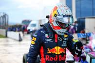 Second placed Max Verstappen (NLD) Red Bull Racing in qualifying parc ferme.