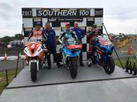 Dean Harrison, Dan Kneen and Michael Dunlop