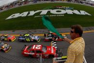 Martin Truex Jr leads the field to the start of the first Gatorade Duel