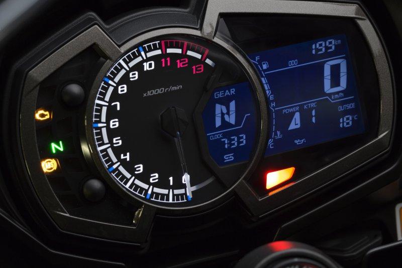 2017 Kawasaki Z1000SX clocks
