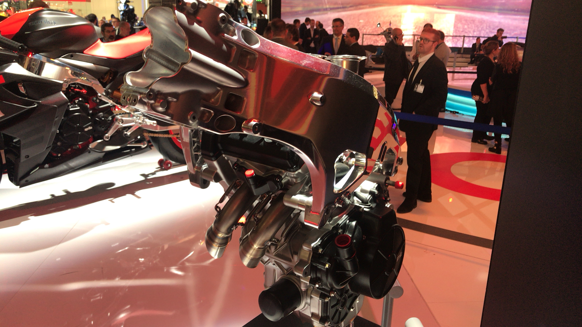 Aprilia RS660 engine