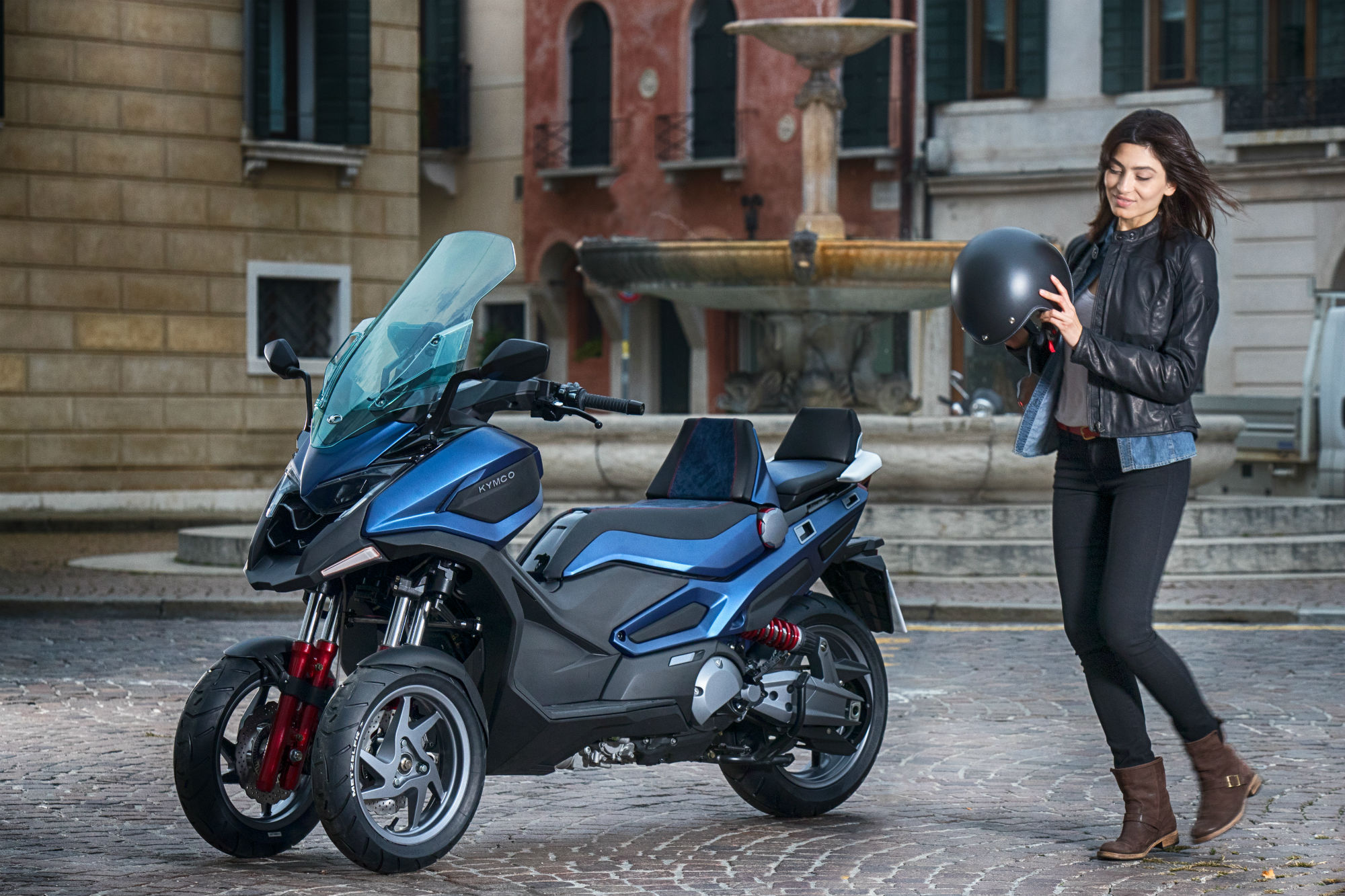 Kymco reveals two-and-three-wheel 'Adventure' scooter concepts at Eicma